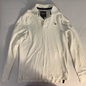 Abercombie And Fitch Mens Long Sleeve Polo LG